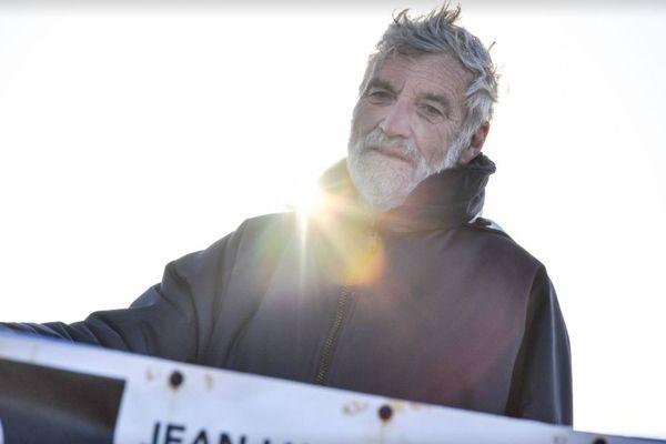 Jean-Luc Van Den Heede, leader provisoire de la Golden Globe Race, au large d'Hobart (Australie) le 5 octobre 2018