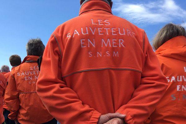 Les sauveteurs de la SNSM à la cérémonie d'hommage le 13 juin 2019 aux Sables d'Olonne