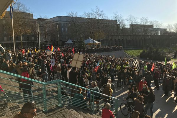 """La mobilisation a été importante à Brest contre la loi de """"sécurité globale"""""""