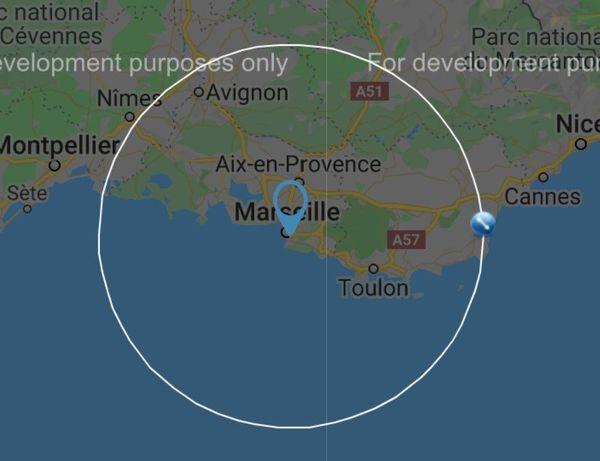 Rayon de 100km autour de l'Allée Ray Grassi, à Marseille.