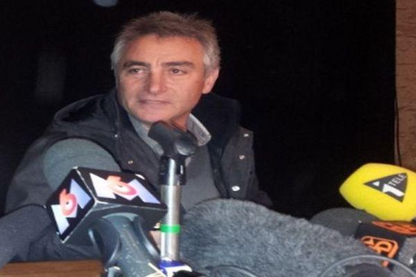 Barjac (Gard)  - Jésus Rodriguez, père de la jeune Chloé - 17 novembre 2012.