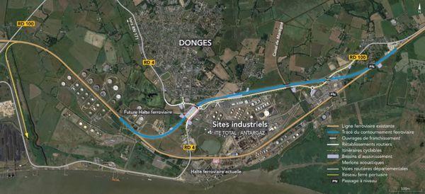 Le contournement de la raffinerie de Donges, 4,5 km de voies ferrées nouvelles et une station plus proche du centre ville