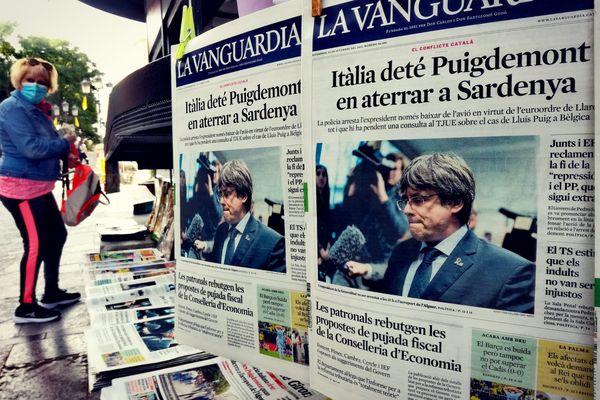 L'arrestation de Puigdemont fait la une des journaux