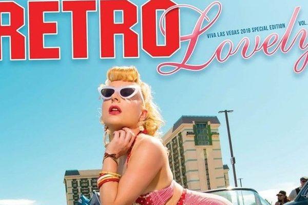 Valentine Pompadour en couverture de Retro Lovely, un magazine mythique du rockabilly