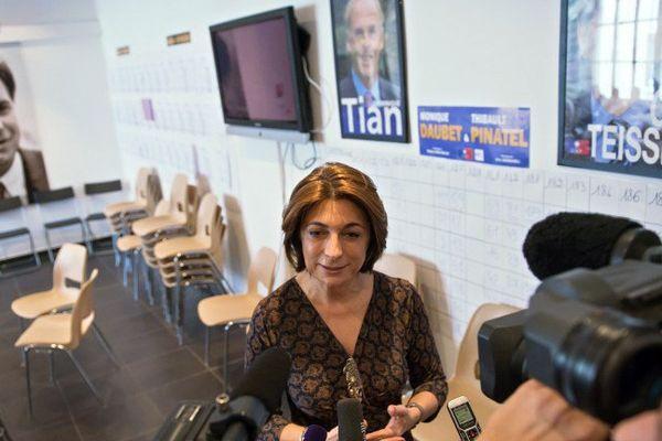Martine Vassal, chef de file de l'UMP dans les Bouches-du-Rhône.