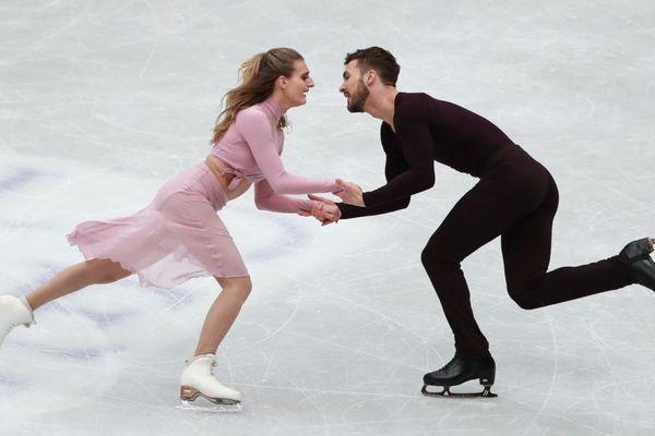 Gabriella Papadakis et Guillaume Cizeron lors des derniers championnats du monde au Japon.