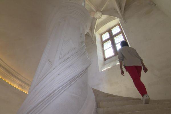 Le grand escalier est attribué à Léonard de Vinci, mais Sonia Matossian en doute.
