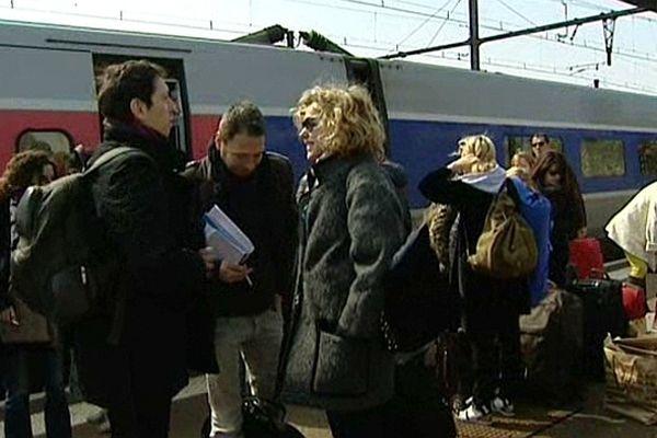 Une partie des membres du jury du Festival International du Film Policier de Beaune sont arrivés en Côte d'Or en TGV