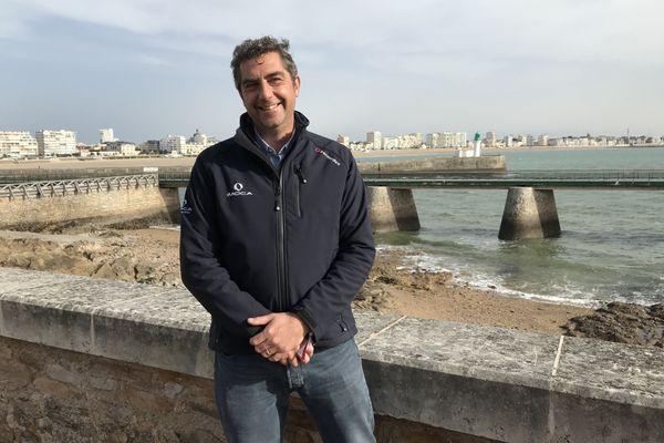 Antoine Mermod, président de la classe Imoca, le 6 novembre 2020 aux Sables d'Olonne