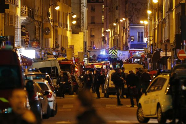 Le soir de l'attaque terroriste contre le Bataclan à Paris le 13 novembre 2015.
