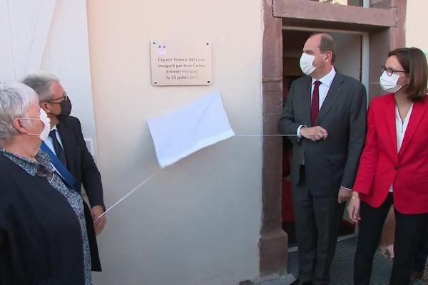 """Jean Castex et quatre autres ministres ont inauguré la """"Maison France Services"""" de Melisey, en Haute-Saône"""