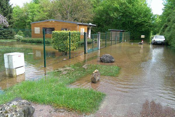 Une maison les inondée à Conflans-sur-Seine