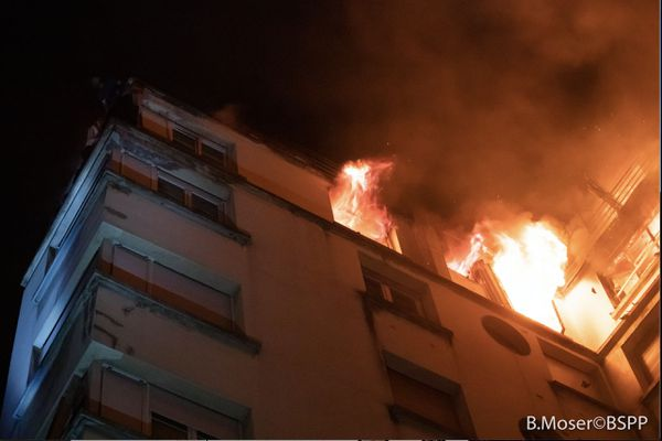 Incendie de la rue Erlanger : la garde à vue de la suspecte a été levée pour raisons médicales