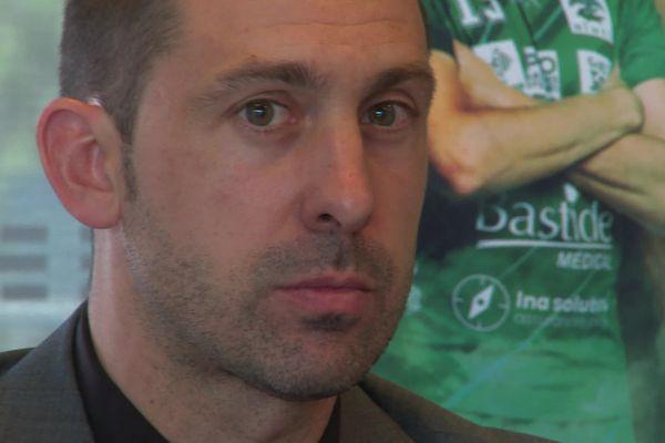Michaël Guigou lors de la conférence de presse du 27 mai 2021 à Nîmes.