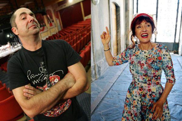 Yves Pujol et Noël Perna alias Mado la Niçoise, les voix du sud avec accent.