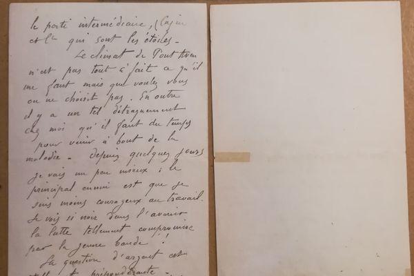 La lettre du peintre Paul Gauguin, envoyée à son ami Émile Schuffenecker
