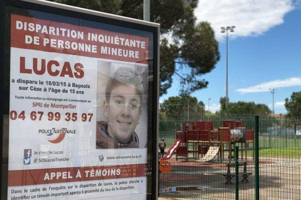 Montpellier - des affiches pour ne pas oublier la disparition de Lucas tronche, le 18 mars 2015 à Bagnols-sur-Cèze, il avait 15 ans - 6 mai 2017.