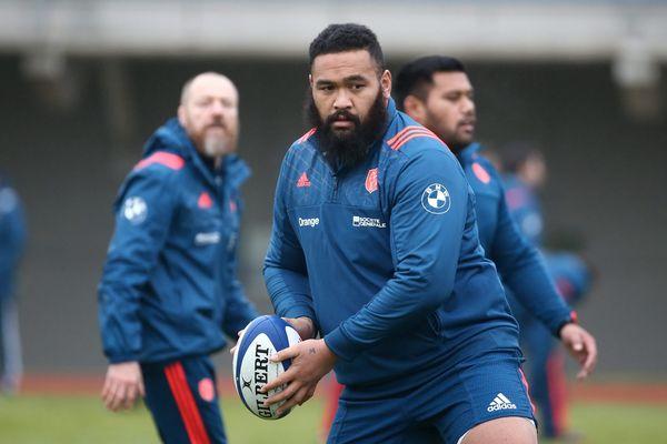 Rassemblement de l'équipe de France de rugby à Marcoussis le 31 janvier 2017 avant le premier match en Angleterre.