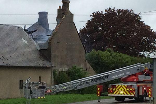 Feu d'habitation dans un corps de ferme à Chevilly (Loiret)