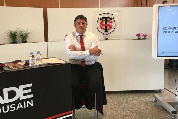Le président du Stade Toulousain Didier Lacroix lors de sa conférence de presse de rentrée.