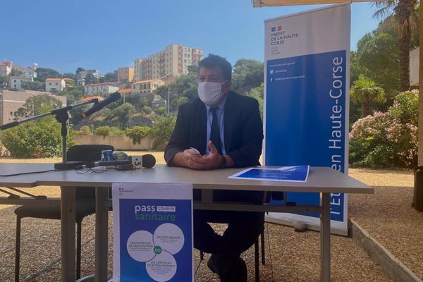 Le préfet de Haute-Corse, François Ravier, tenait une conférence de presse ce vendredi 23 juillet.
