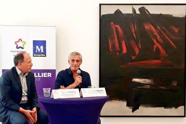 Montpellier - une toile de Soulages à 9 millions d'euros prêtée au musée Fabre - juillet 2019.