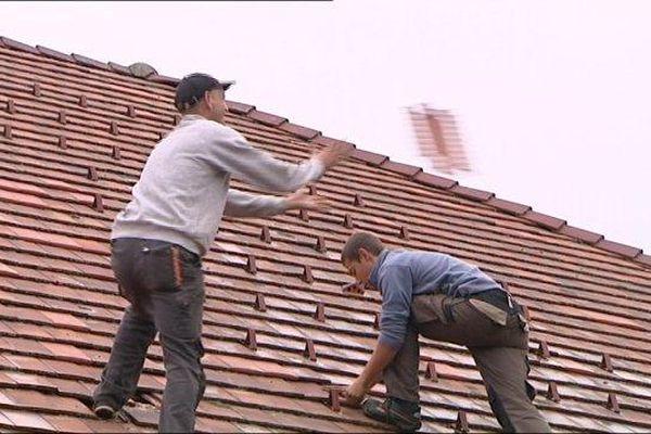 A Levier, les toitures ont souffert