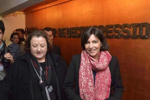 Frédérique Calandra aux côtés d'Anne Hidalgo en 2014.