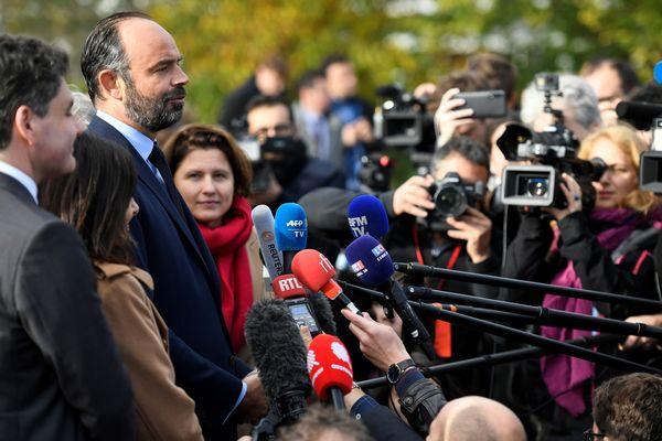 Edouard Philippe devant la presse (Archives)