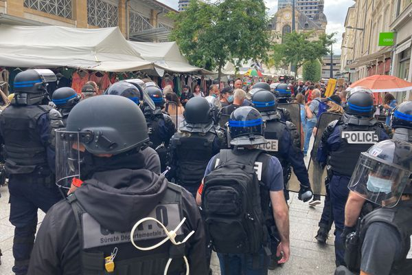 Manifestation anti-passe sanitaire à Nancy