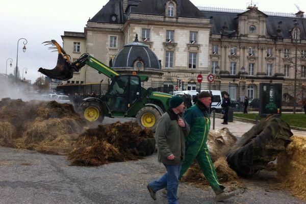 Manifestation agriculteurs - Troyes / 21/01/2014 - (directive nitrates)