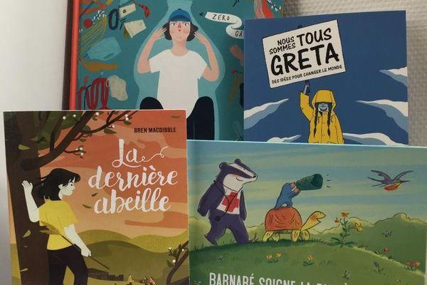 Couvertures de livres sur les enfants qui s'engagent pour sur l'écologie