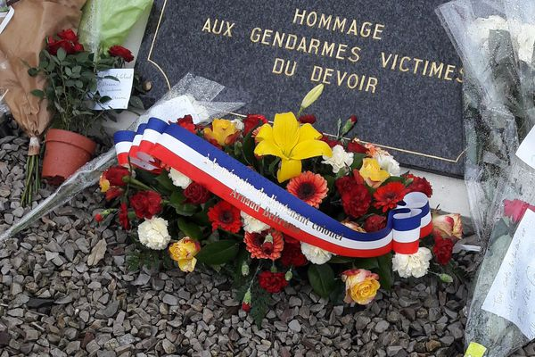 L'hommage national à Arnaud Beltrame, le 28 mars 2018, ici à Laval en Mayenne