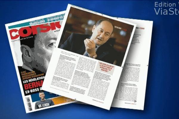 """A la """"une"""" du magazine Corsica"""