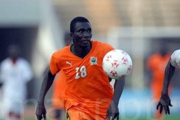 Zoumane Koné lors d'une rencontre entre le Burkina Faso et la Côte d'Ivoire