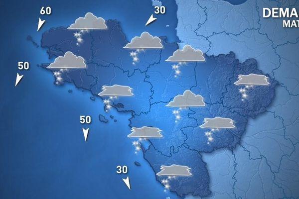 Prévisions météo France pour mardi matin