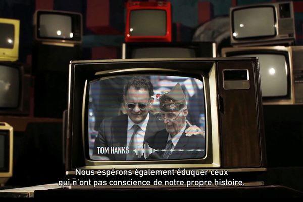 """Tom Hanks, acteur principal du film """"Il faut sauver le soldat Ryan"""""""