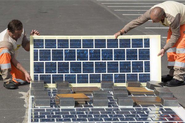 La première route solaire est fabriquée à Tourouvre (61).