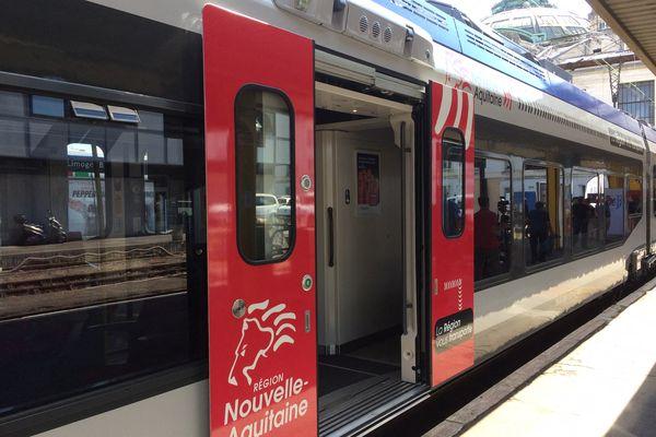 Train TER en gare de Bordeaux - image d'illustration -