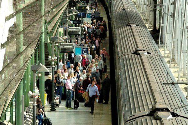 Ce matin la ligne Avignon/Carpentras a repris vie après 77 ans d'arrêt.