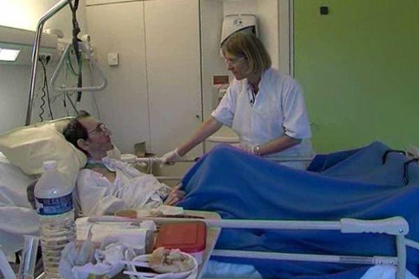 L''unité de soins palliatifs au CHU de La Tronche est composé d'un dizaine de lits, et de personnes extrêmement malades.