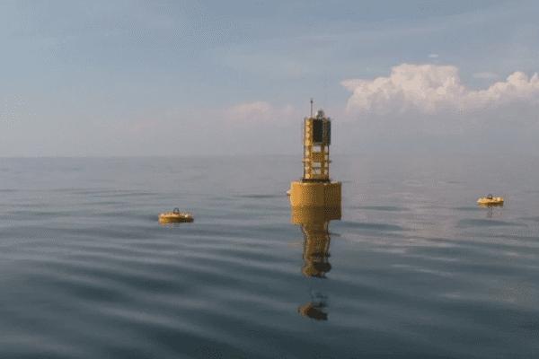C'est au large du Croisic qu'a été implanté le 1er site d'essai en mer de notre pays.