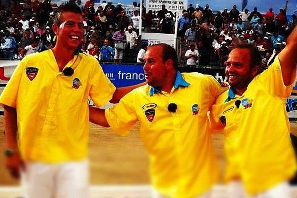 Vainqueur du Mondial l'an passé avec sa triplette Rocher-Robineau-Dubois