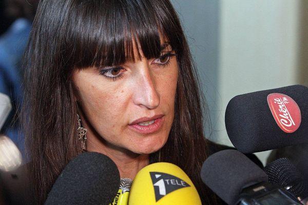 Véronique Sousset lors du procès de l'affaire Marina, elle est alors avocate et défend Eric Sabatier le père de Marina