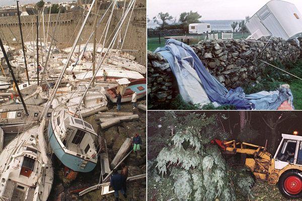 Les dégâts avaient été considérables en Normandie et en Bretagne.