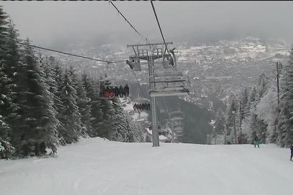 Les joies du ski dans les Vosges