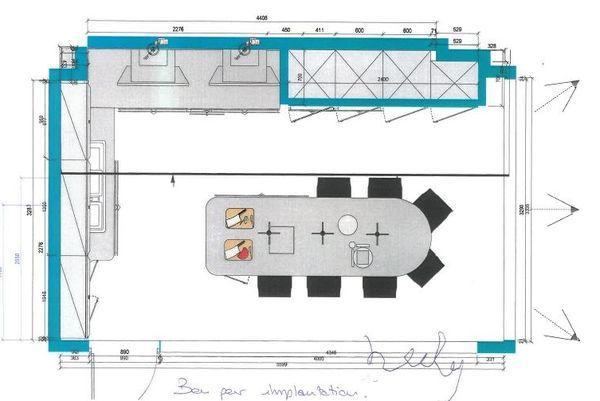 Le plan d'aménagement de la cuisine LICHT ! destinée aux aveugles et malvoyants.