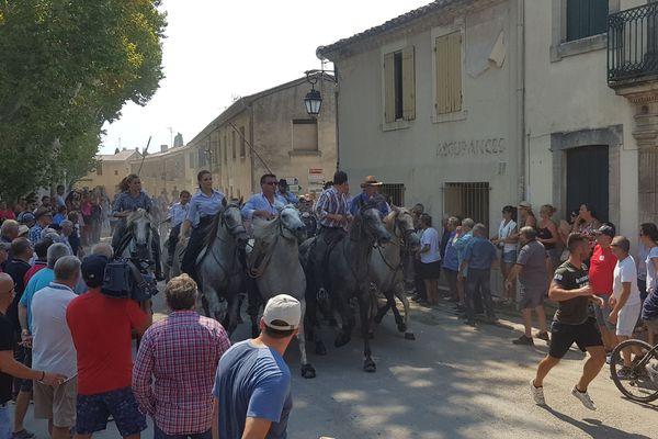 Les fêtes votives au Cailar dans le Gard, le 6 août 2018.