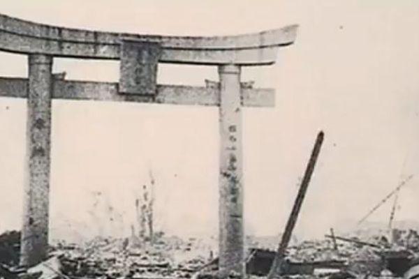 La ville d'Hiroshima en ruines après l'explosion nucléaire, le 6 août 1945.