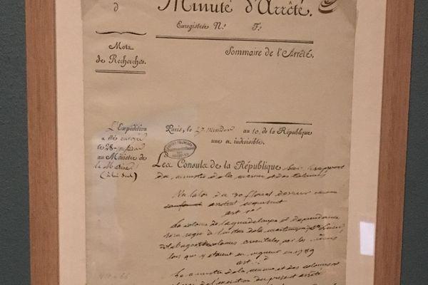 En 1803, un arrêté met fin à la liberté générale dans les colonies datant de 1794. Prise par Bonaparte seul, cette décision n'avait fait l'objet d'aucune loi.